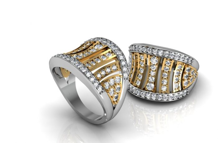 Two Tone Dress Ring