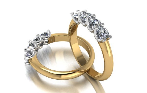 18ct Two tone ring