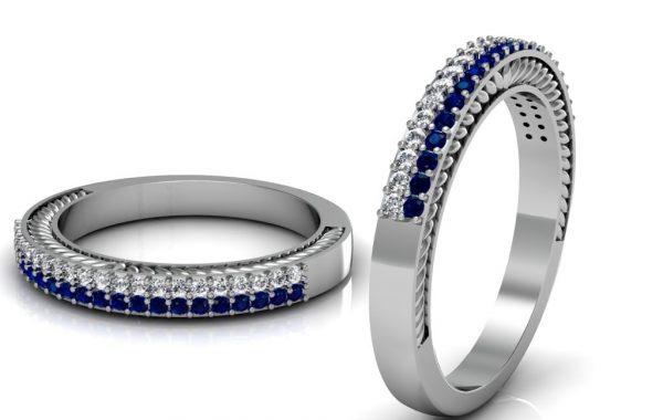Diamond & Sapphire Eternity Ring