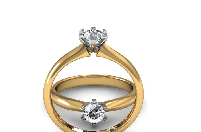 Solitaire Ring with 0.32ct Diamond