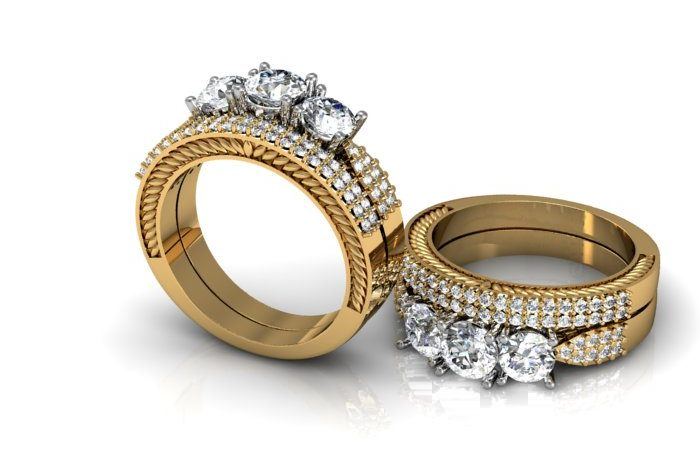 Yellow & White Gold Engagement Rings