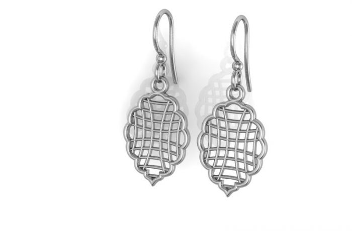 White Gold Shepard Hook Earrings