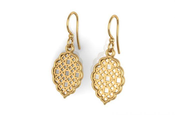 Yellow Gold Shepard Hook Earrings